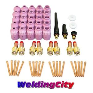 58 pcs Tig Welding Torch 17 18 26 Kit Gas Lens Setup 040 1 8 Tak21 Us Seller