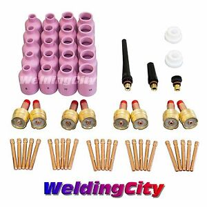 58 pcs Tig Welding Large Gas Lens Accessory Kit Torch 17 18 26 Tak22 Us Seller