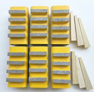 New 6pk Soft Concrete Diamond Grinding Block For Edco stow husq general Grinders