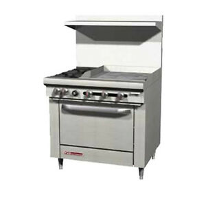 Southbend S36c 2gl 36 S series Gas Restaurant Range W Griddle