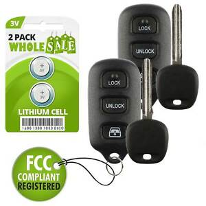 2 Replacement For 2003 2004 2005 2006 2007 2008 Toyota Sequoia Key Fob Remote