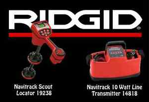 Ridgid Navitrack Scout Locator 19238 Navitrack 10 Watt Linetransmitter 14818