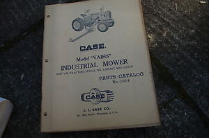 Case Vaih5 Tractor Mower Parts Manual Book Catalog Spare List 1014 Farm Vintage