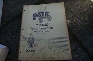Case Vai Tractor Parts Manual Book Catalog Spare List Farm Owner R I D59 Vintage
