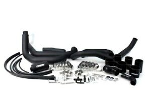 Perrin Front Mount Piping Black Boost Tubes W Black Silicone For 08 14 Wrx