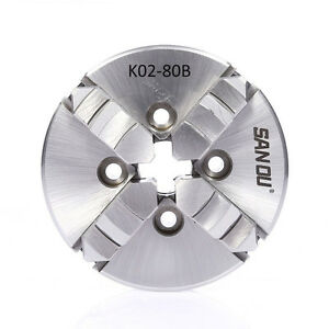 80mm Self Centering 4 Jaw Lathe Chuck M5 3 Inch Manual Cnc Wood Lathe Mill