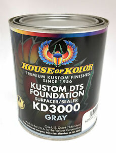 House Of Kolor Dts Foundation Primer Surfacer sealer Gray Quart