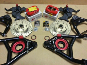 64 72 Chevy Disc Brake Kit 3 Drop Tubular A Arms Wilwood Dual Piston Calipers