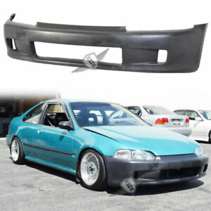 Fit 92 95 Honda Civic Eg Hatchback Wc Style Front Bumper Conversion Kit Jdm Usdm