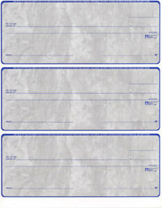 3000 Custom Checks Laser Inkjet Quickbooks Format Layout 3 Per Page Business