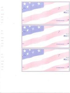 2001 Custom Wallet Checks Laser Inkjet Quickbooks Format 3 Per Page Business