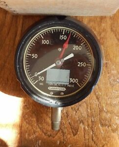 Vintage Nos Us Navy Lonergan Compound Vacuum Gauge 30 300 Ln 45 c 2