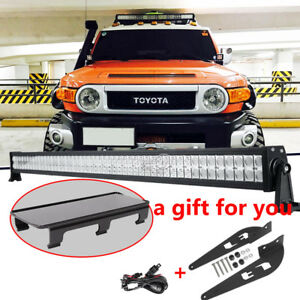 Ironwalls 52 Inch 300w Led Light Bar Mount Brackets For Toyota Fj Cruiser 07 14