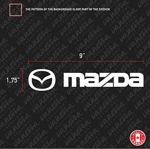 2x Mazda Sticker Vinyl Decal White