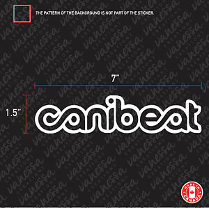 2x Canibeat Sticker Vinyl Decal