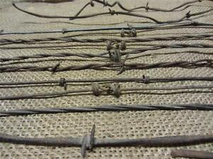 Vintage Iron Barb Wire Collection Antique Old Rusty Decor Western Rustic 9259
