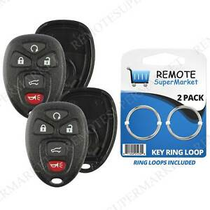 2 Replacement For Chevy Tahoe Traverse Remote Car Key Fob 5b Suv Shell Pad Case Fits Tahoe