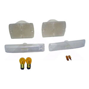 Parking And Side Marker Light Kit Clear For Jeep Wrangler Yj 1987 1993 Rt28010