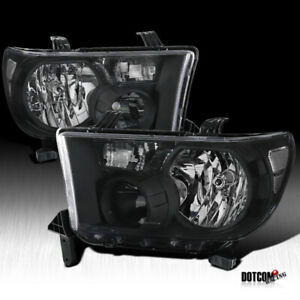 For Toyota 2007 2013 Tundra 2008 2017 Sequoia Black Clear Diamond Headlights