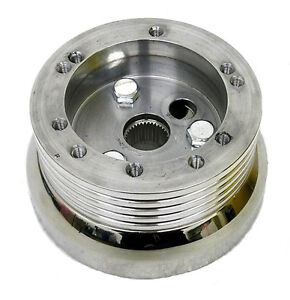 1969 1994 Chevy Caprice 5 6 Hole Polished Steering Wheel Adapter