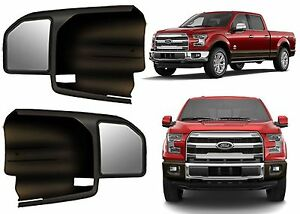 Cipa 11550 Black Custom Towing Mirror Sleeves For 2015 2017 Ford F 150 F150 New