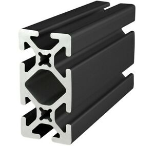 80 20 Inc T slot 15 Series 1 5 X 3 Aluminum Extrusion 1530 s black X 48 Long N