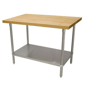 Advance Tabco H2s 308 96 Maple Top Work Table