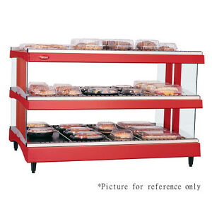 Hatco Gr3sdh 33d Dual Shelf Horizontal Display Warmer With Heated Glass Shelves