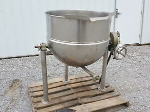 11666 60 Gallon Groen Kettle Stainless Steel Jacketed Tilt Style