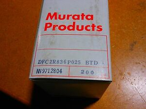 Murata Gigafil Filter Box Of 200 Dfc2r836p025btd 836 5mhz 50 Ohms 1w
