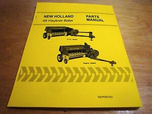 New Holland 68 Hay Baler Hayliner Parts Catalog Book List Manual Nh