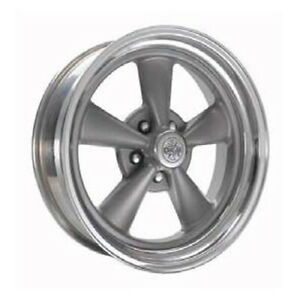 Cragar 612g S S 15x8 5x120 65 Offset 0 Gray Spokes With Machined Lip Qty Of 1