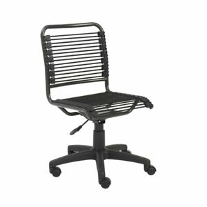 Office Chair For Computer Desk Executive Task Low Back Modern In Black And Black