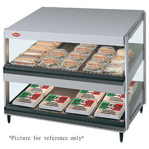 Hatco Grsds 60d Countertop Multi product Display Warmer With 2 Slanted Shelves