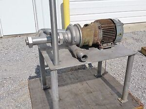 3 X 2 5 Stainless Steel Centrifugal Pump 3500 Rpm 7 5 Hp Ampco