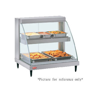 Hatco Grcdh 1pd Humidified And Heated Display W Curved Glass And Dual Shelves