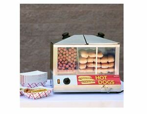 Electric Commercial Hot Dog Bun Steamer Machine Concessions Catering Party