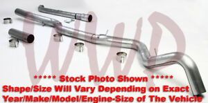 5 Down Pipe Back Exhaust System 07 10 Chevy gm Duramax Turbo Diesel 6 6l Pickup