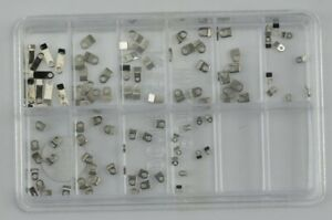 100 Watch Case Movement Clamps Parts Casing Repair Fix Assorted Watchmakers