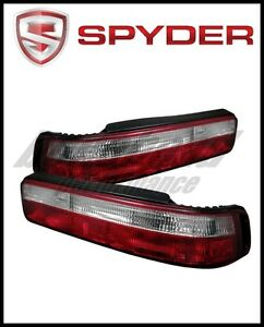 Spyder Acura Integra 90 93 2dr Euro Style Tail Lights Red Clear