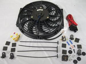 12 S blade Electric Cooling Heavy Duty Radiator Fan Thermostat