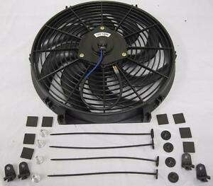 14 Universal Curved S Blade Heavy Duty Electric Radiator Cooling Fan Mount Kit