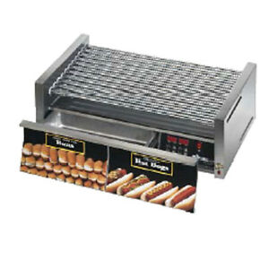 Star 30scbde 30 Hot Dog Capacity Hot Dog Grill W Bun Drawer