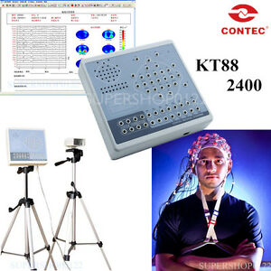 24 Channel Eeg Machine digital Brain Electric Activity Mapping System 2 Tripod