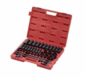 Sunex Tool 2569 43 Pc 1 2 Dr Metric Master Impact Socket Set Brand New