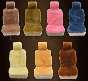 Genuine Sheepskin Fur Car 1 Front Seat Cover Winter Warm Universal M58