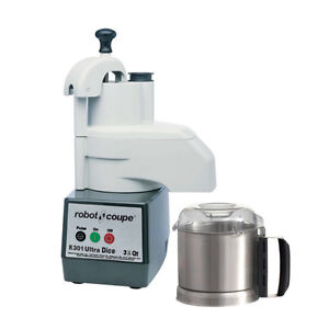 Robot Coupe R301udice Combi Continuous Feed Food Processor Dicer W Ss Bowl