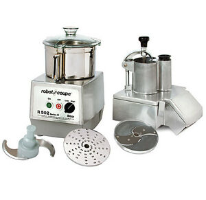 Robot Coupe R502 Combination Continuous Feed Food Processor W 5 5 Qt Ss Bowl