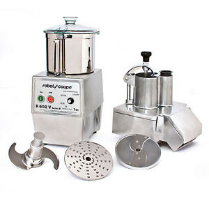 Robot Coupe R602vv Variable Speed Combination Food Processor W 7 Qt Ss Bowl