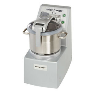 Robot Coupe R10 Food Processor Vertical Cuttermixer W 10qt Stainless Steel Bowl